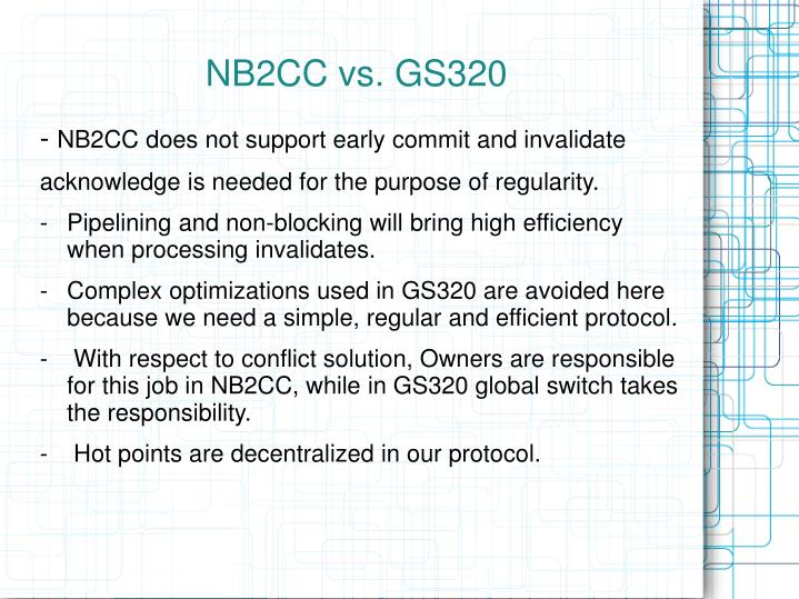 NB2CC vs. GS320