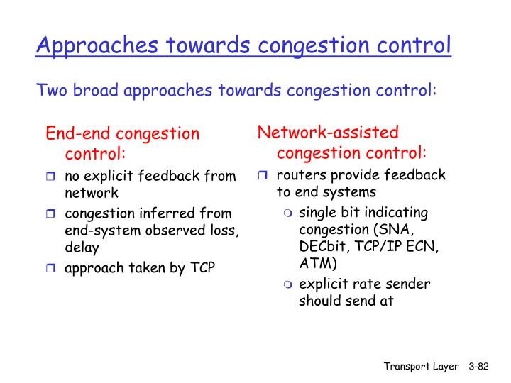 End-end congestion control: