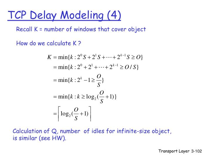 TCP Delay Modeling (4)