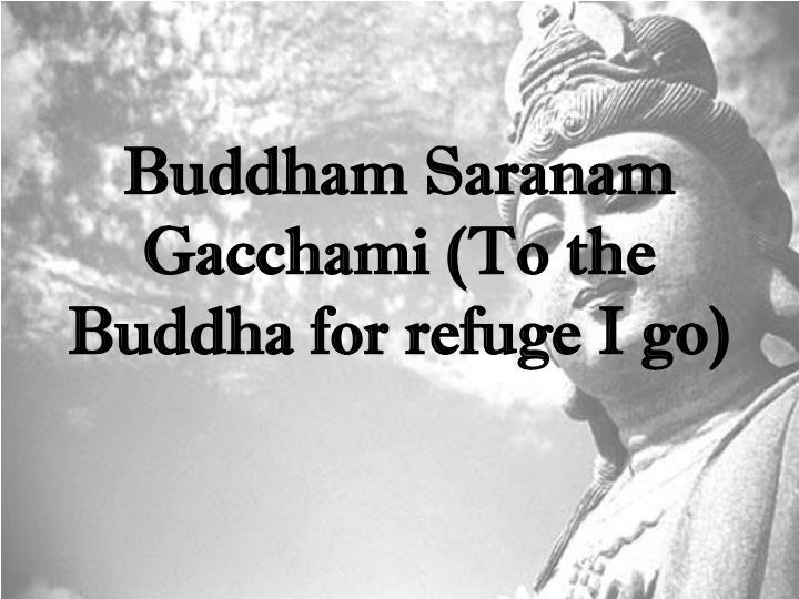 Buddham Saranam Gacchami (To the Buddha for refuge I go)