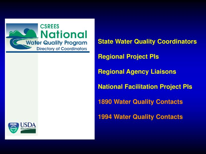 State Water Quality Coordinators