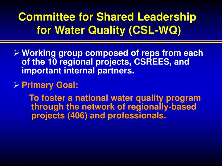 Committee for Shared Leadership