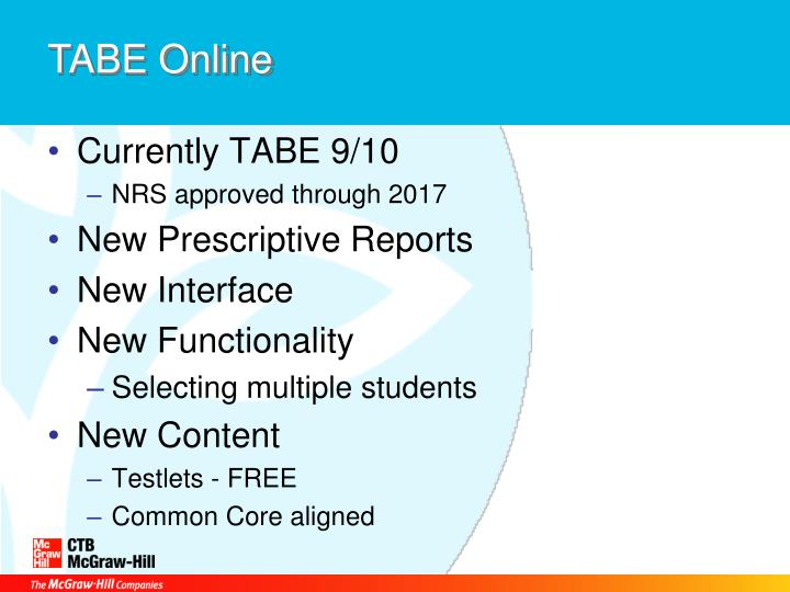TABE Online