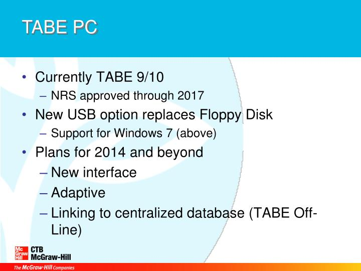 TABE PC