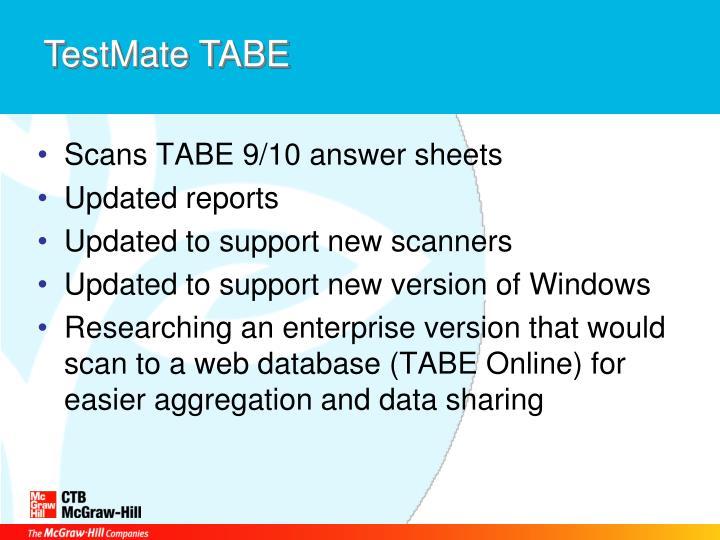TestMate TABE
