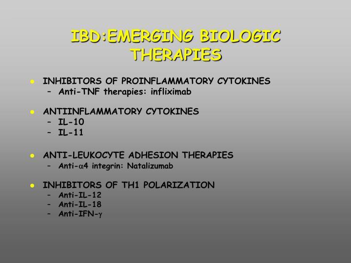 IBD:EMERGING BIOLOGIC THERAPIES