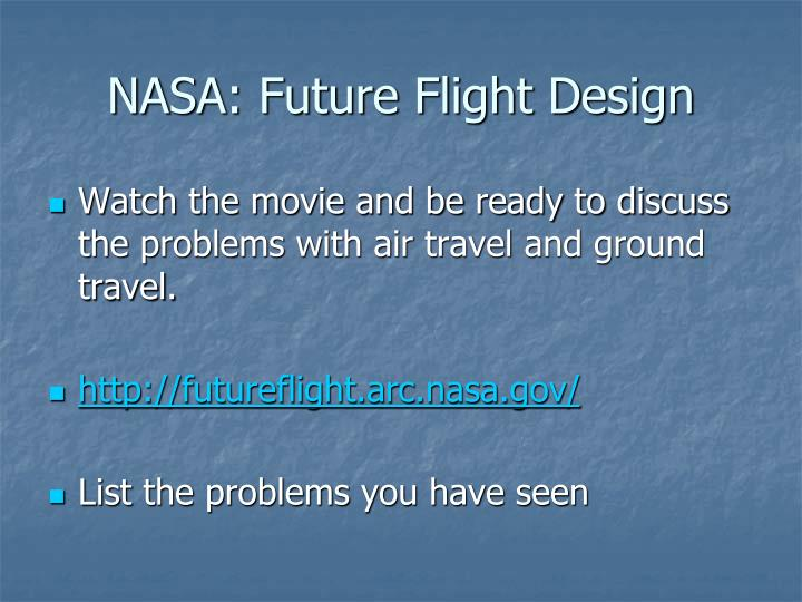 NASA: Future Flight Design