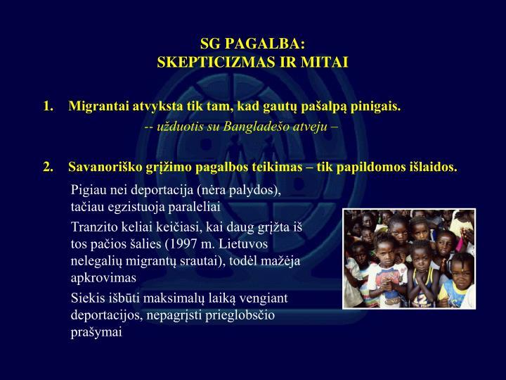 SG PAGALBA: