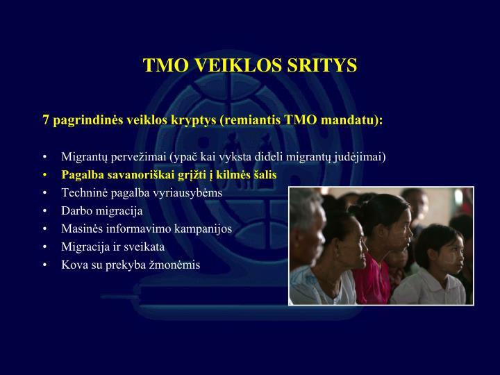 TMO VEIKLOS SRITYS