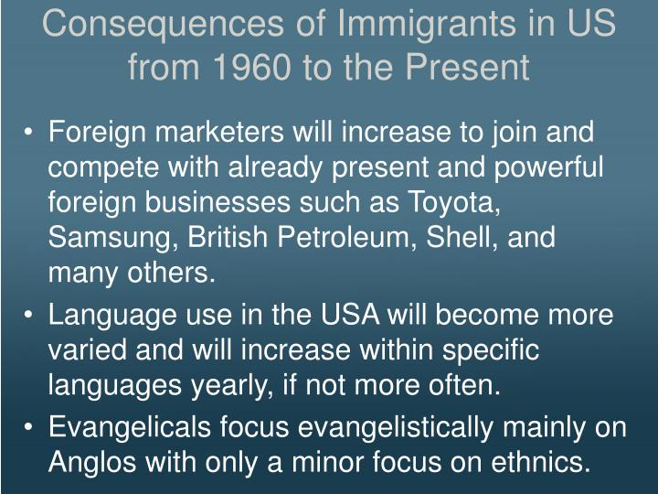 Consequences of Immigrants in US