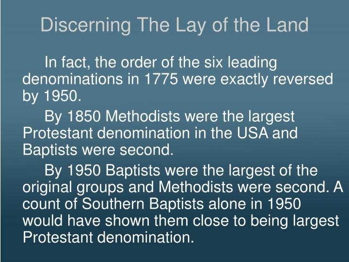 Discerning The Lay of the Land