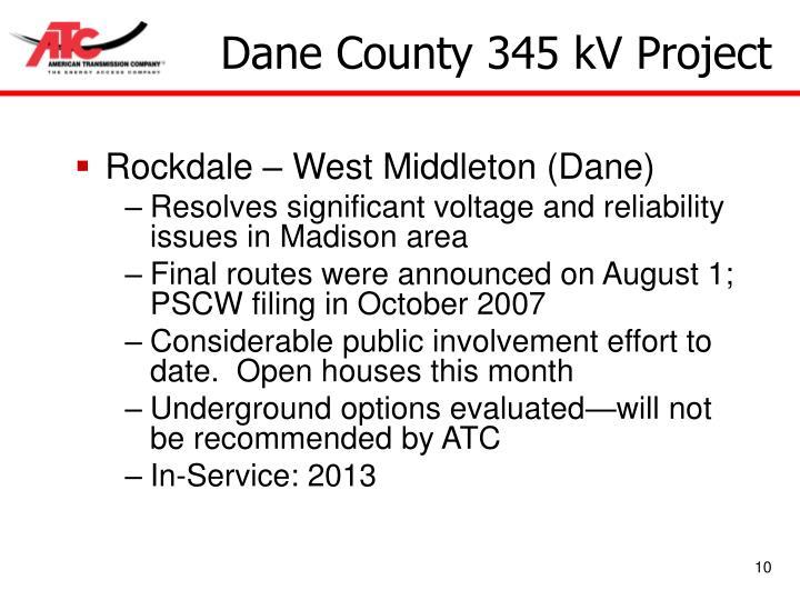 Dane County 345 kV Project