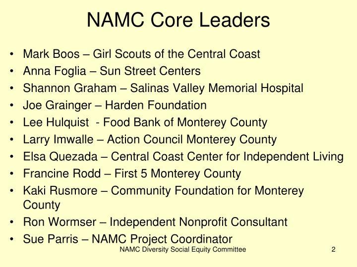 NAMC Core Leaders