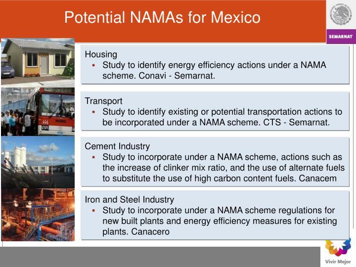 Potential NAMAs for Mexico
