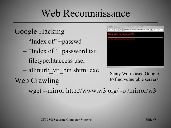 Web Reconnaissance