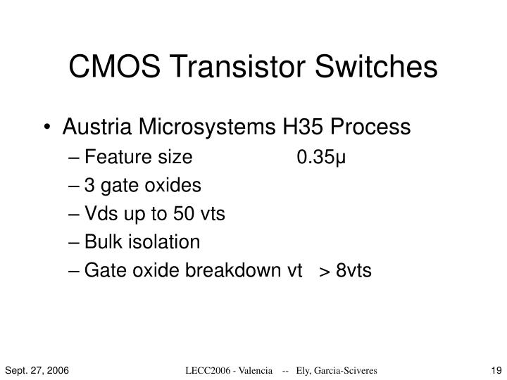 CMOS Transistor Switches