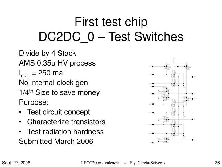First test chip