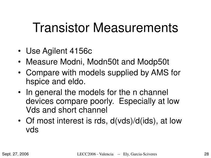 Transistor Measurements