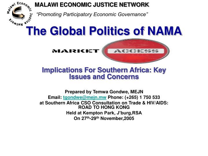 The global politics of nama