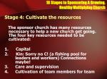 10 stages to sponsoring a growing healthy multiplying church12