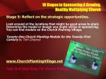 10 stages to sponsoring a growing healthy multiplying church15