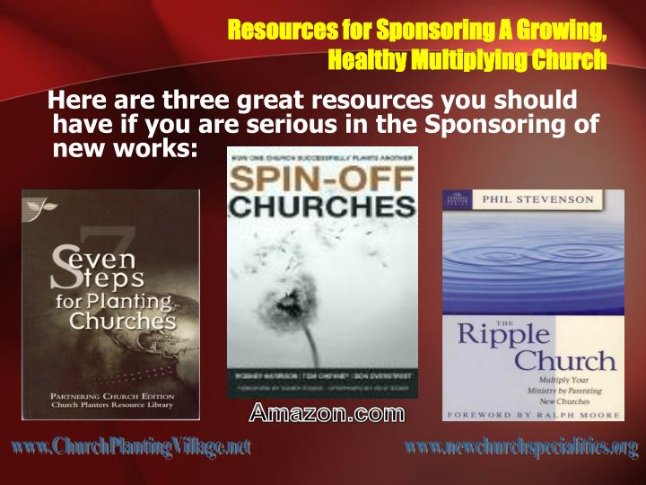 Resources for Sponsoring A Growing,