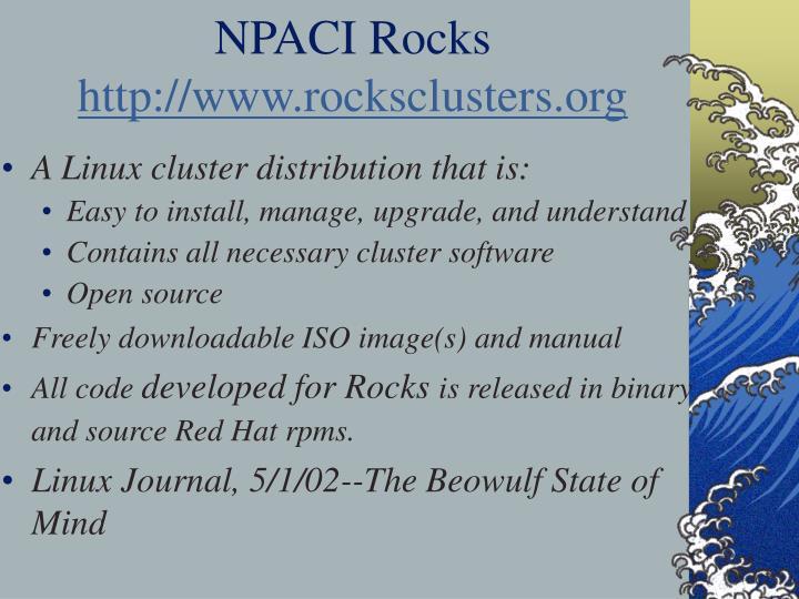 NPACI Rocks