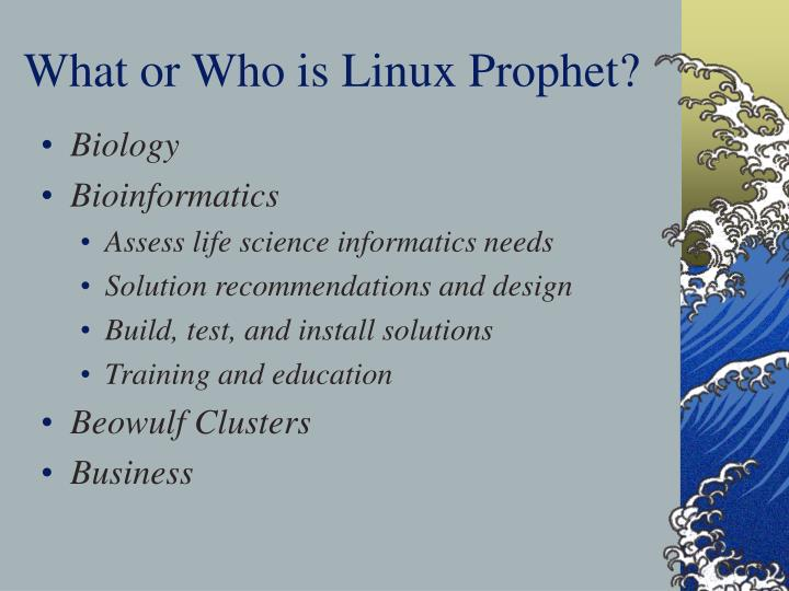 What or Who is Linux Prophet?