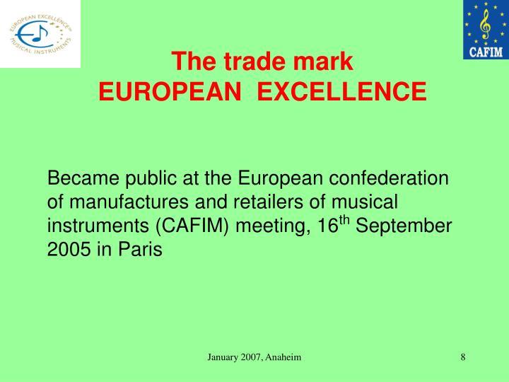The trade mark