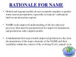 rationale for name