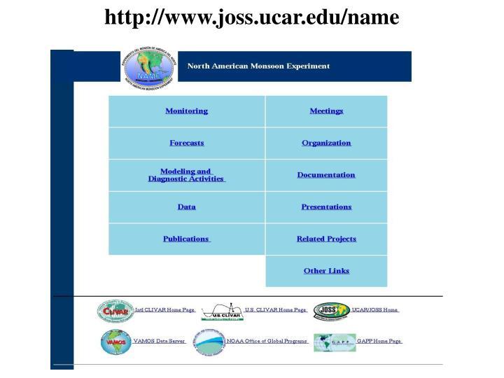 http://www.joss.ucar.edu/name