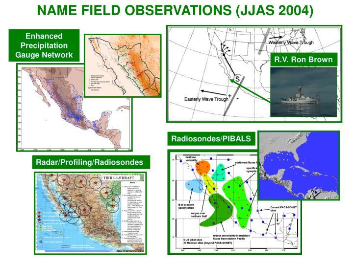 NAME FIELD OBSERVATIONS (JJAS 2004)
