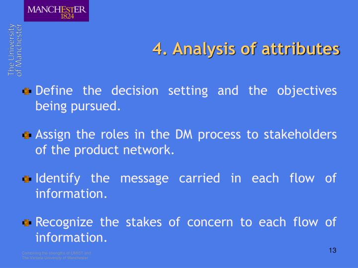 4. Analysis of attributes