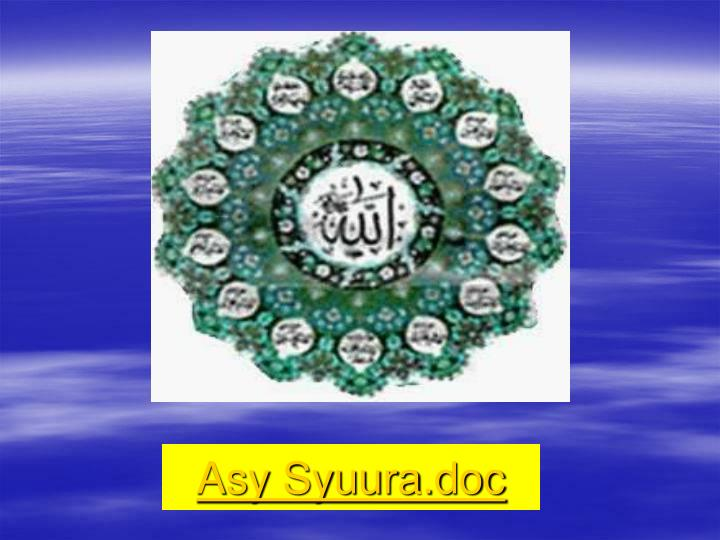 Asy Syuura.doc