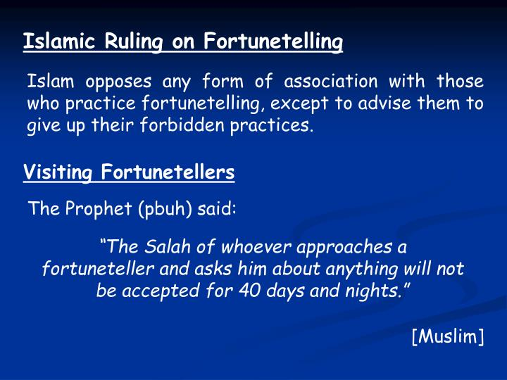 Islamic Ruling on Fortunetelling