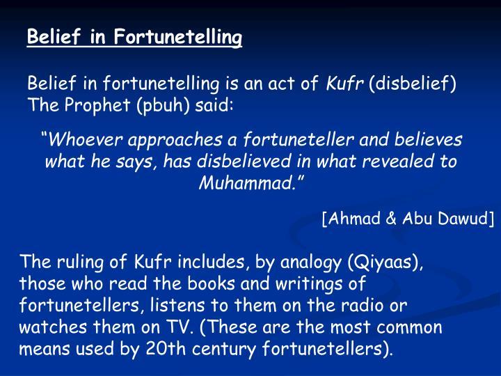 Belief in Fortunetelling