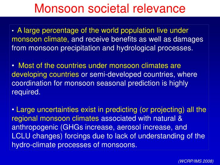 Monsoon societal relevance