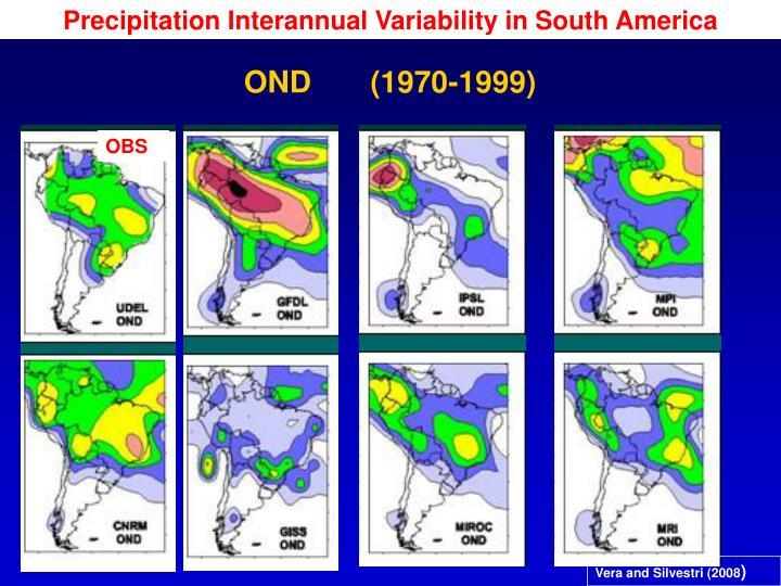 Precipitation Interannual Variability in South America