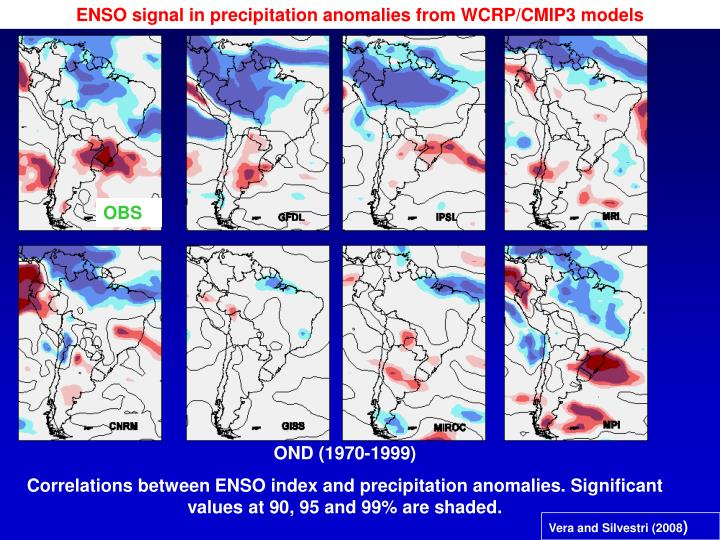 ENSO signal in precipitation anomalies from WCRP/CMIP3 models