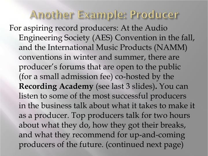Another Example: Producer