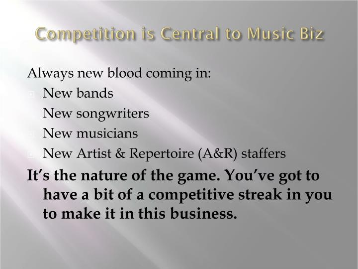 Competition is Central to Music Biz