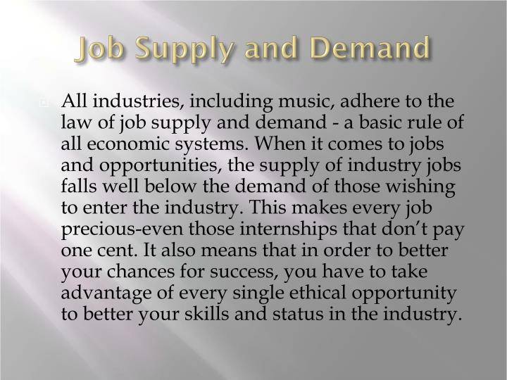 Job supply and demand
