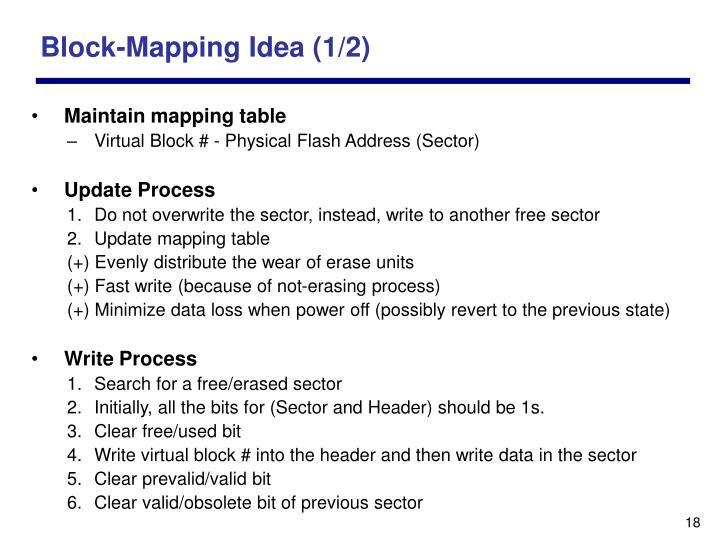 Block-Mapping Idea (1/2)