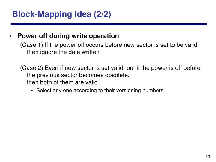 Block-Mapping Idea (2/2)