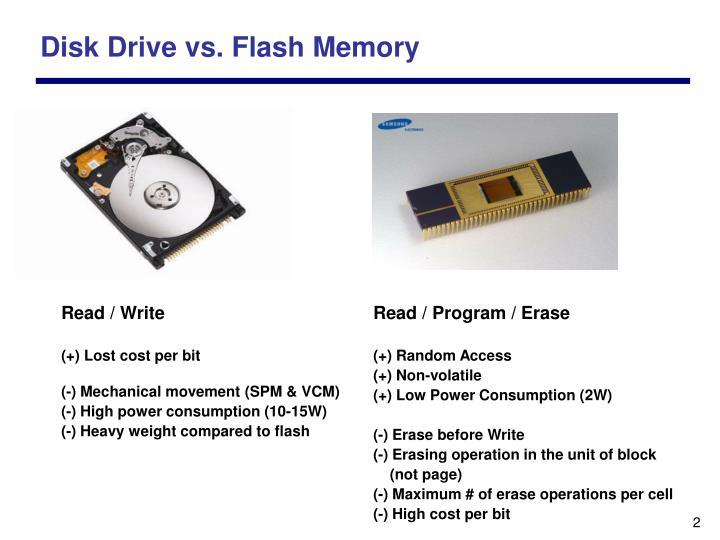 Disk Drive vs. Flash Memory