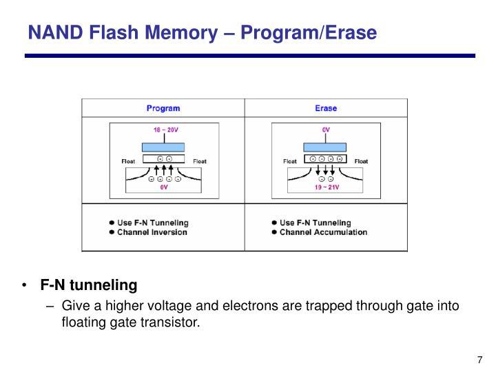 NAND Flash Memory – Program/Erase