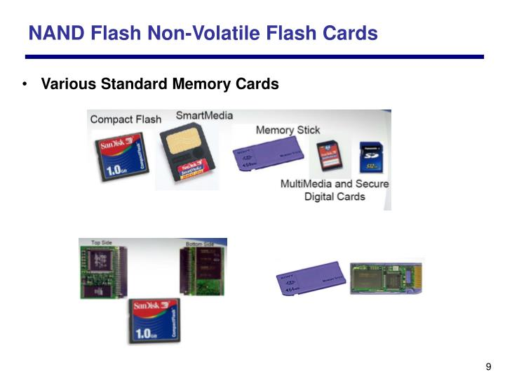 NAND Flash Non-Volatile Flash Cards