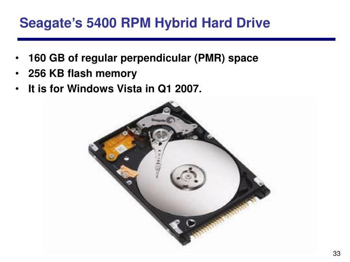 Seagate's 5400 RPM Hybrid Hard Drive