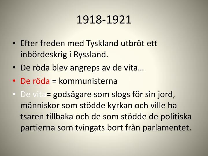 1918-1921