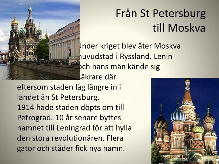 Från St Petersburg